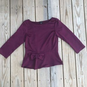 Anne Taylor 3/4 sleeve top